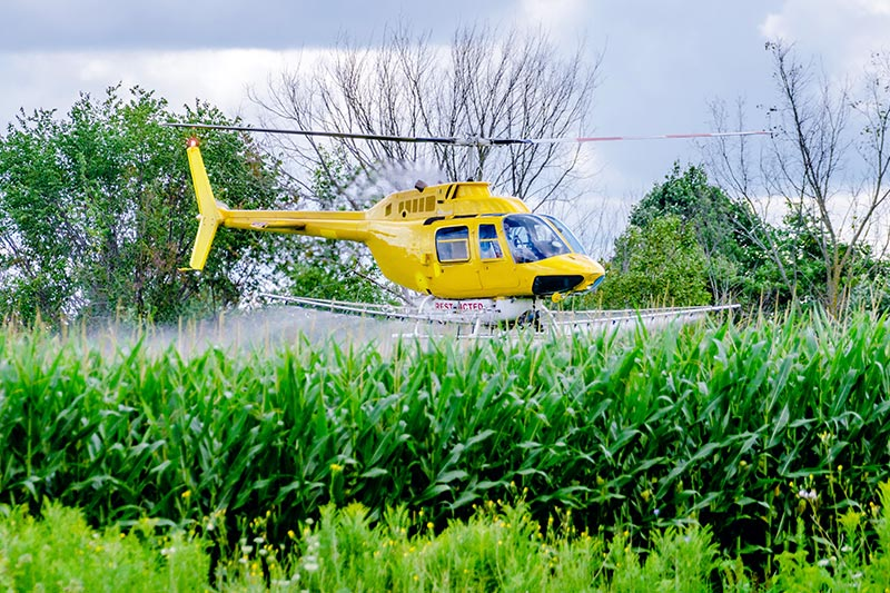 Agricultural Helicopter Spraying in North Carolina