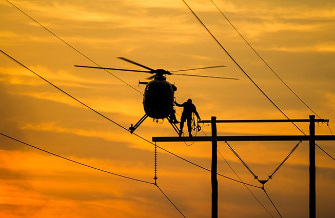 North Carolina Transmission Line Construction Helicopters